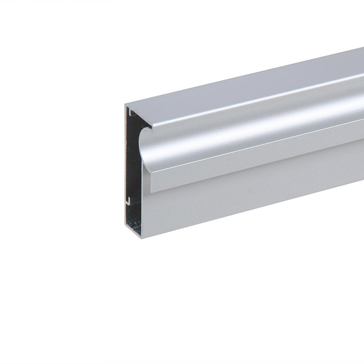 Perfil Puxador Alumínio V03 Para Porta De Vidro De 6mm Anodizado 3m Da Leo